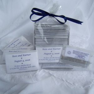 """show images"" to see a sample wedding card sachet"